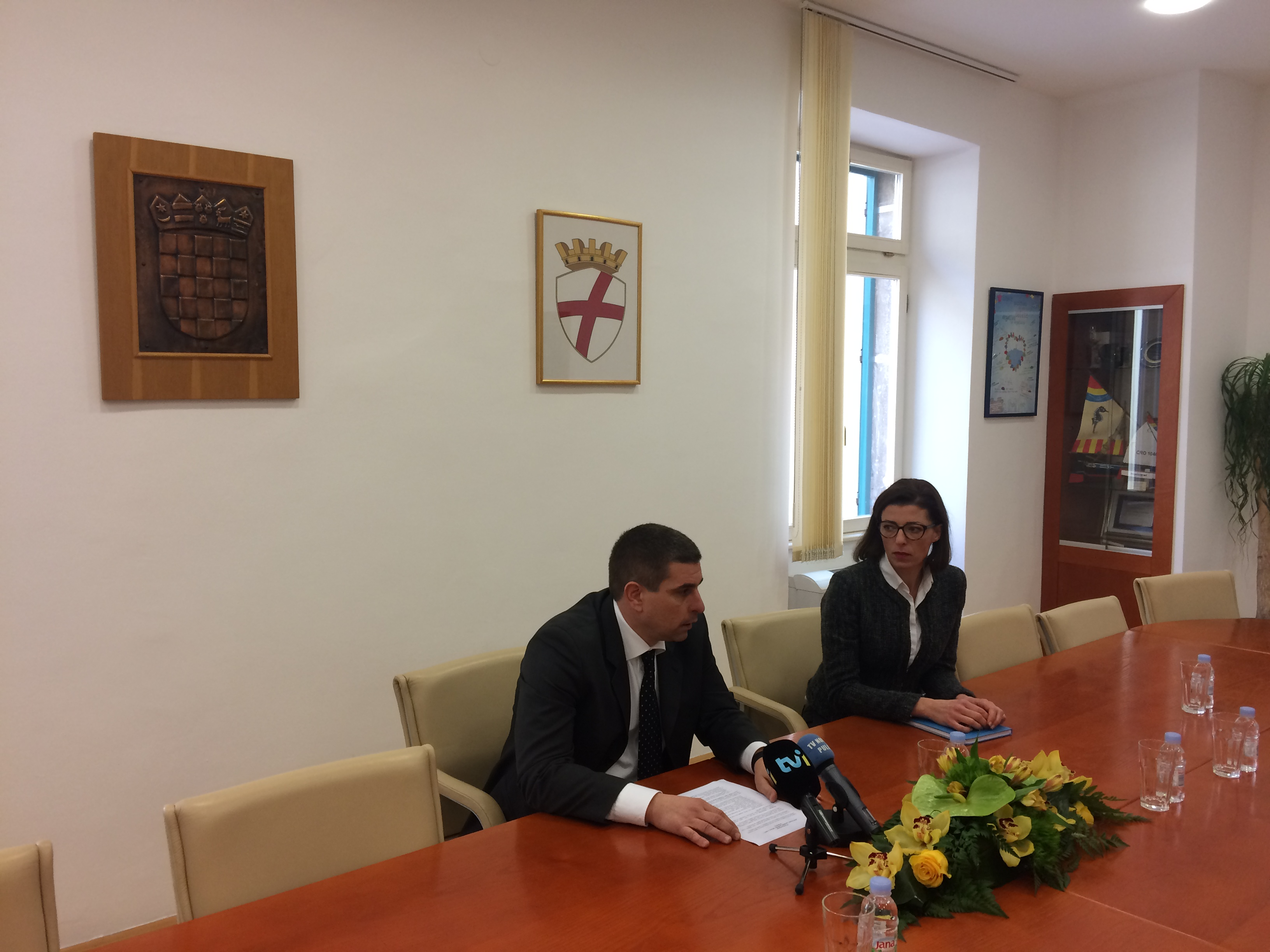 Conferenza stampa del sindaco Marko Paliaga