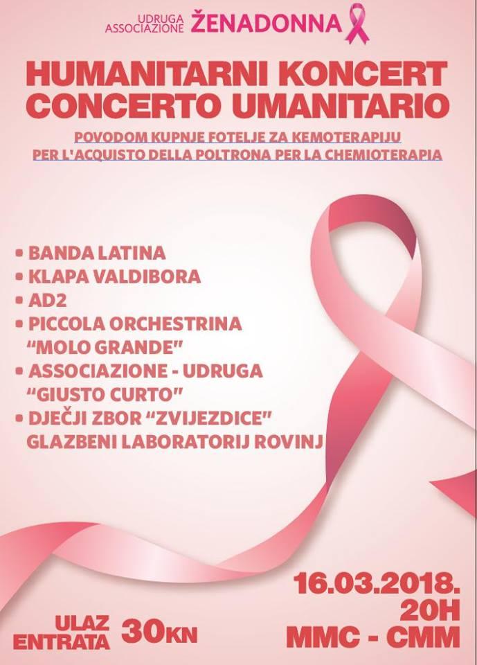 Concerto umanitario dell'Associazione ŽENADONNA
