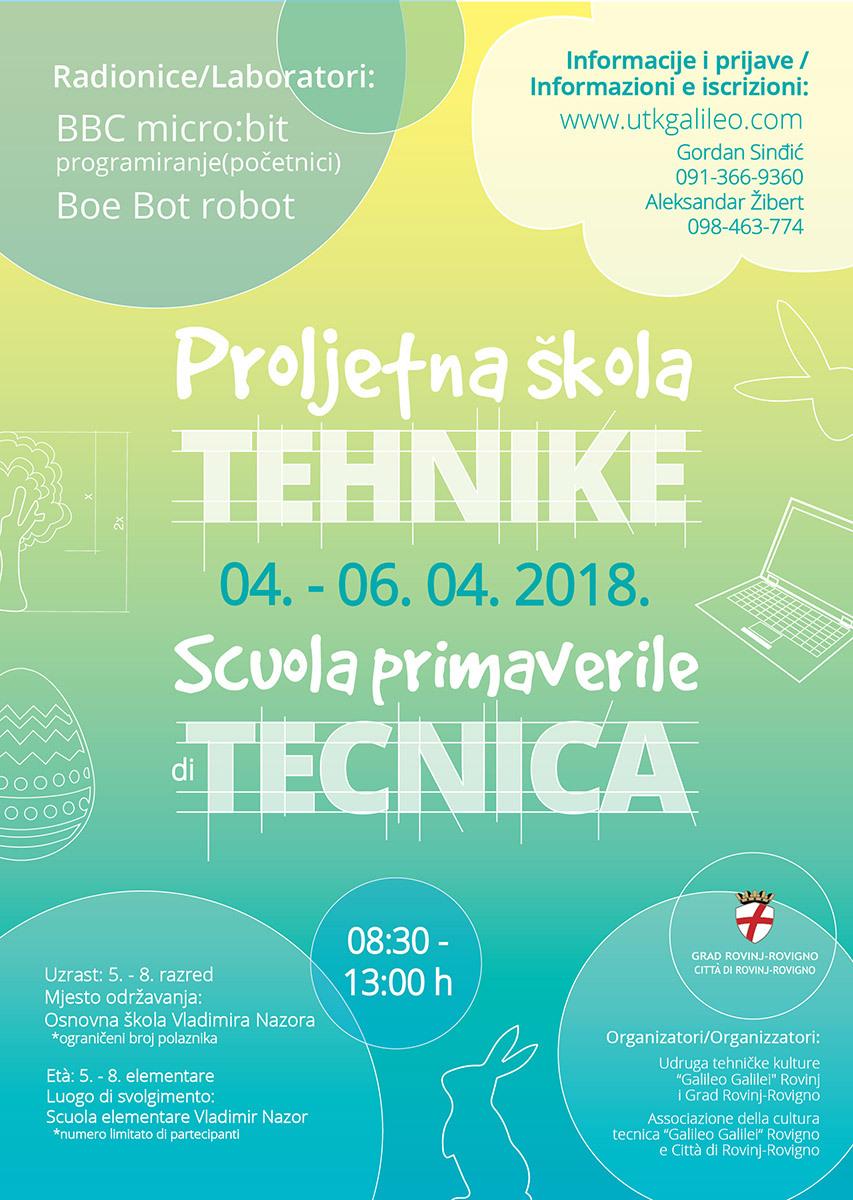 Scuola primaverile di tecnica dal 4 al 6 aprile 2018