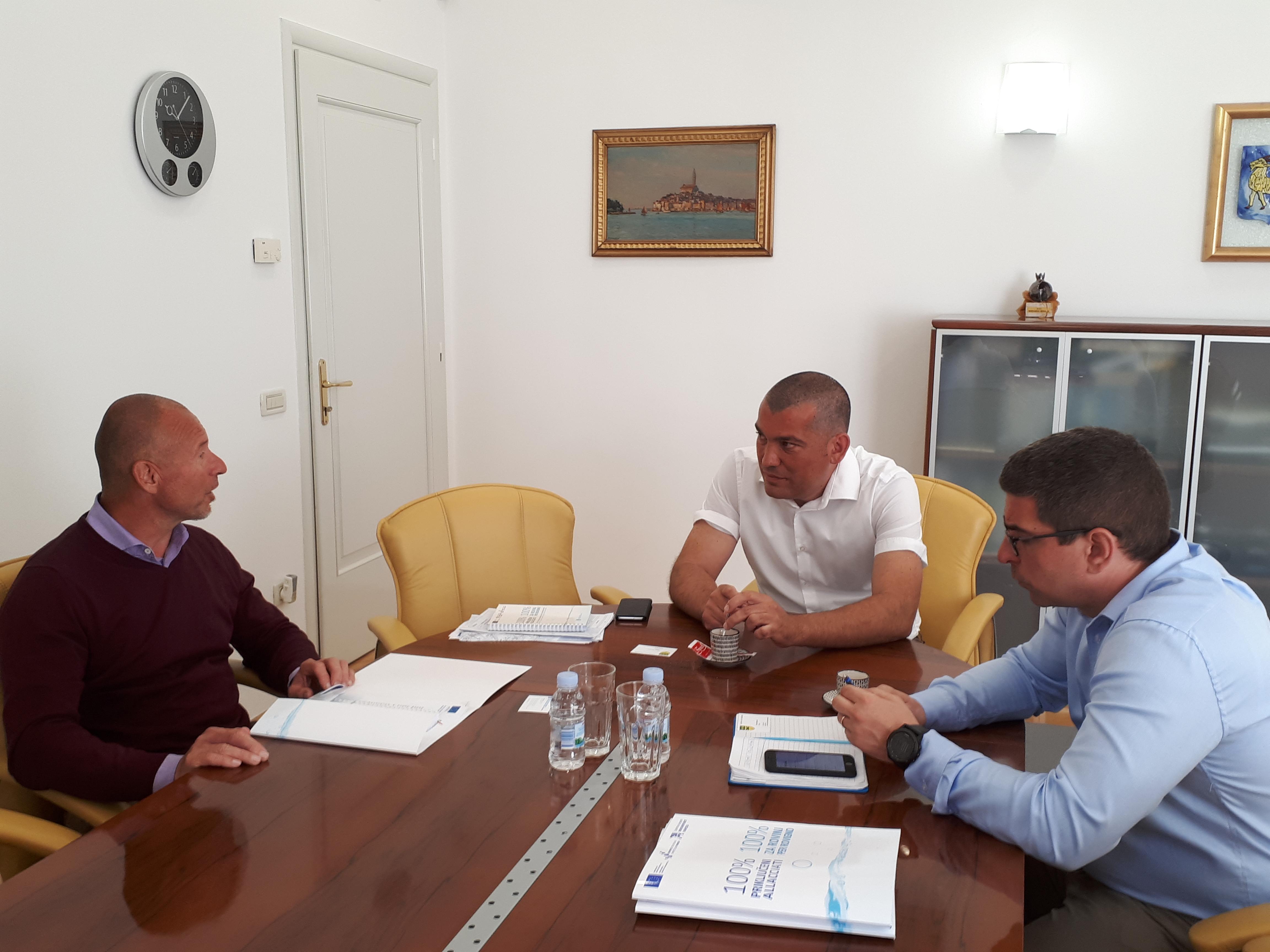 Incontro con il sindaco del municipio sloveno Log-Dragomer