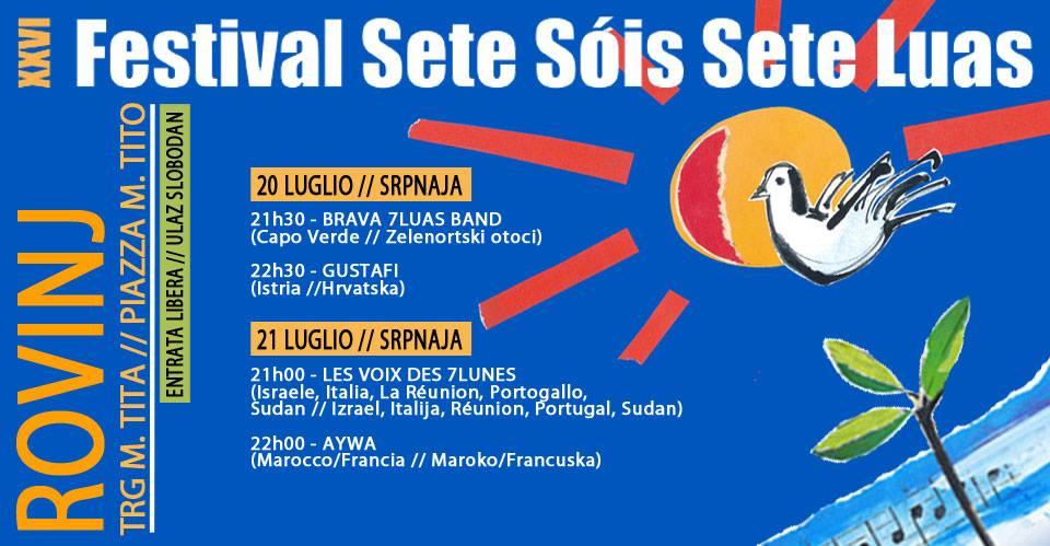 "Festival ""Sete Sois Sete Luas"" 20.-21.7.2018."
