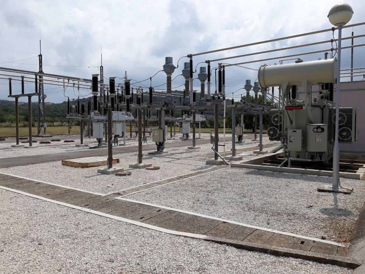 Ricostruita la stazione di trasformatori elettrici Monte di Torre a 20kV