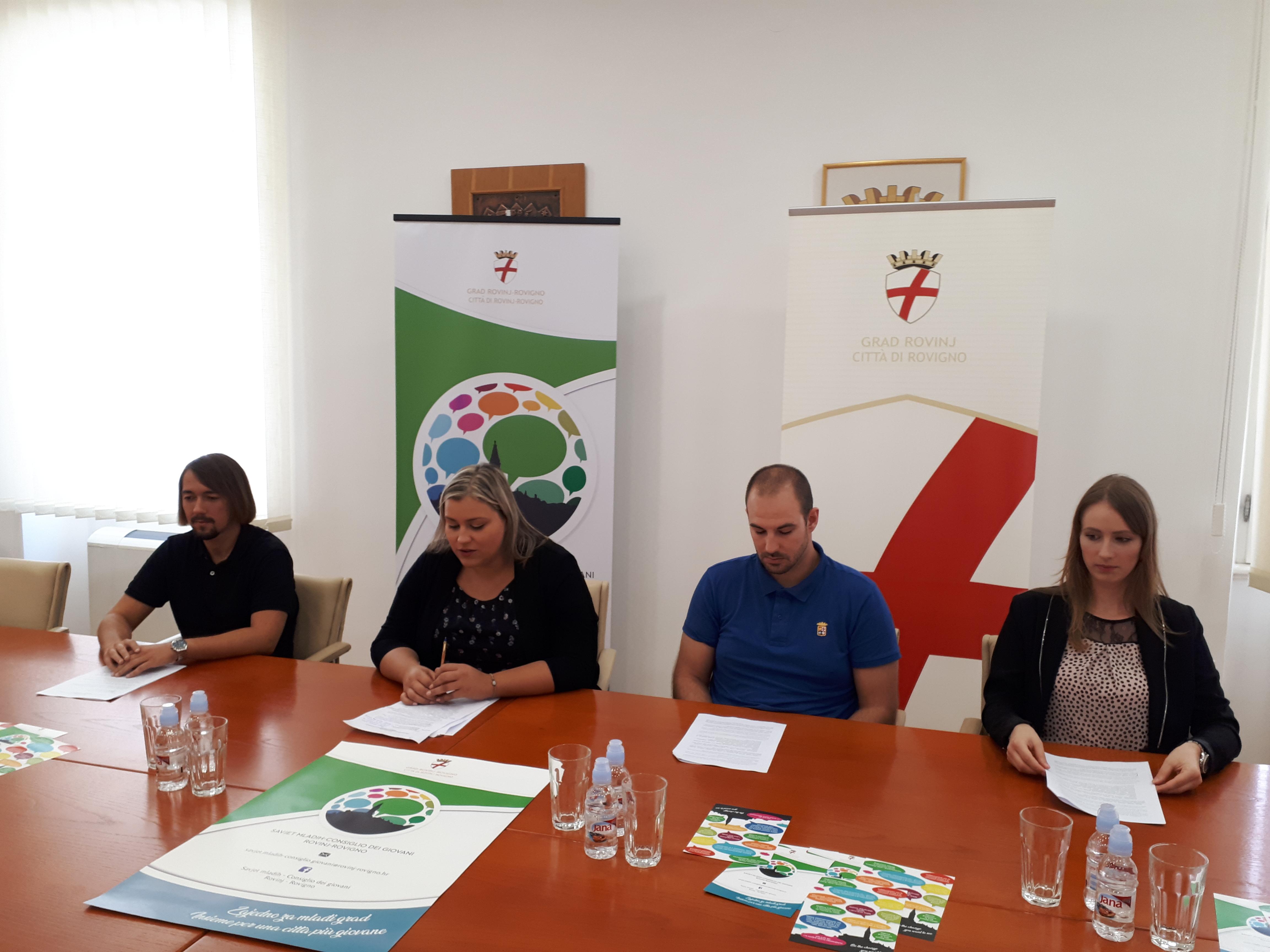 Konferencija za novinare povodom predstavljanja aktivnosti i Programa rada Savjeta mladih Grada Rovinja-Rovigno