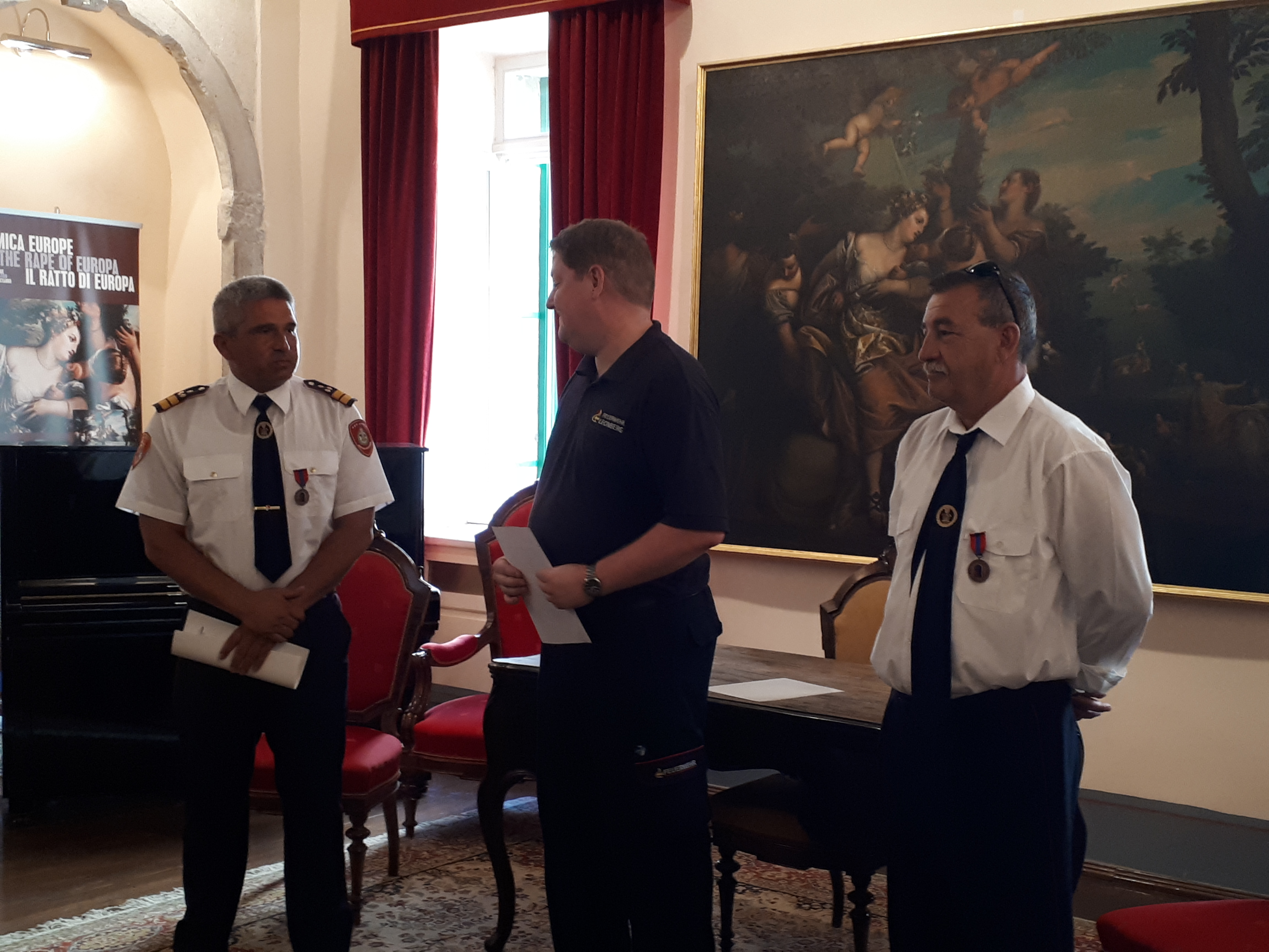 Prijem povodom dodijele brončane medalje vatrogascima JVP Rovinj