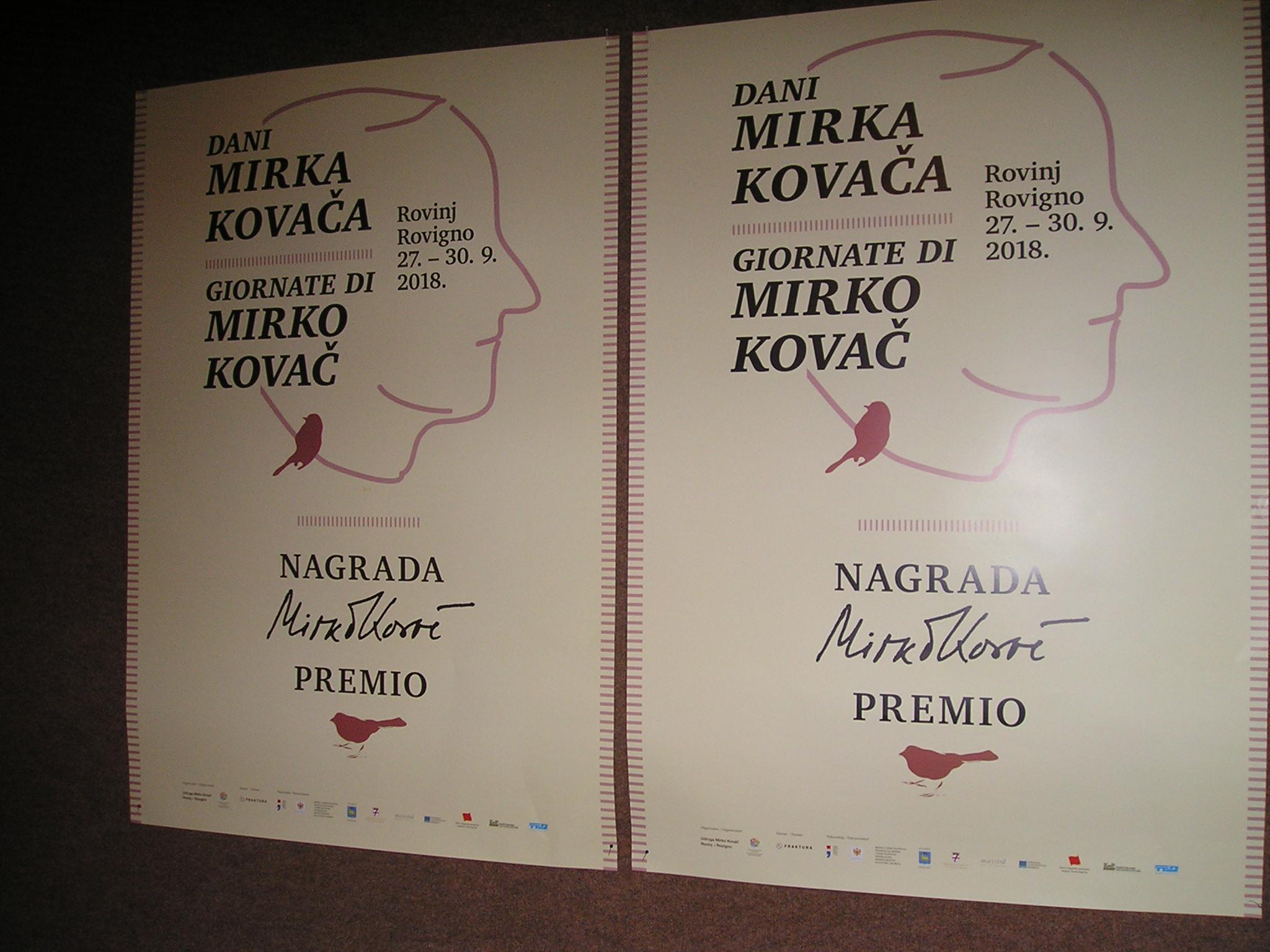 Quinta edizione delle Giornate di Mirko Kovač