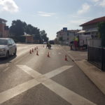 E' iniziata l'installazione dei marcatori stradali LED e  il tracciamento delle strisce pedonali rosse 1