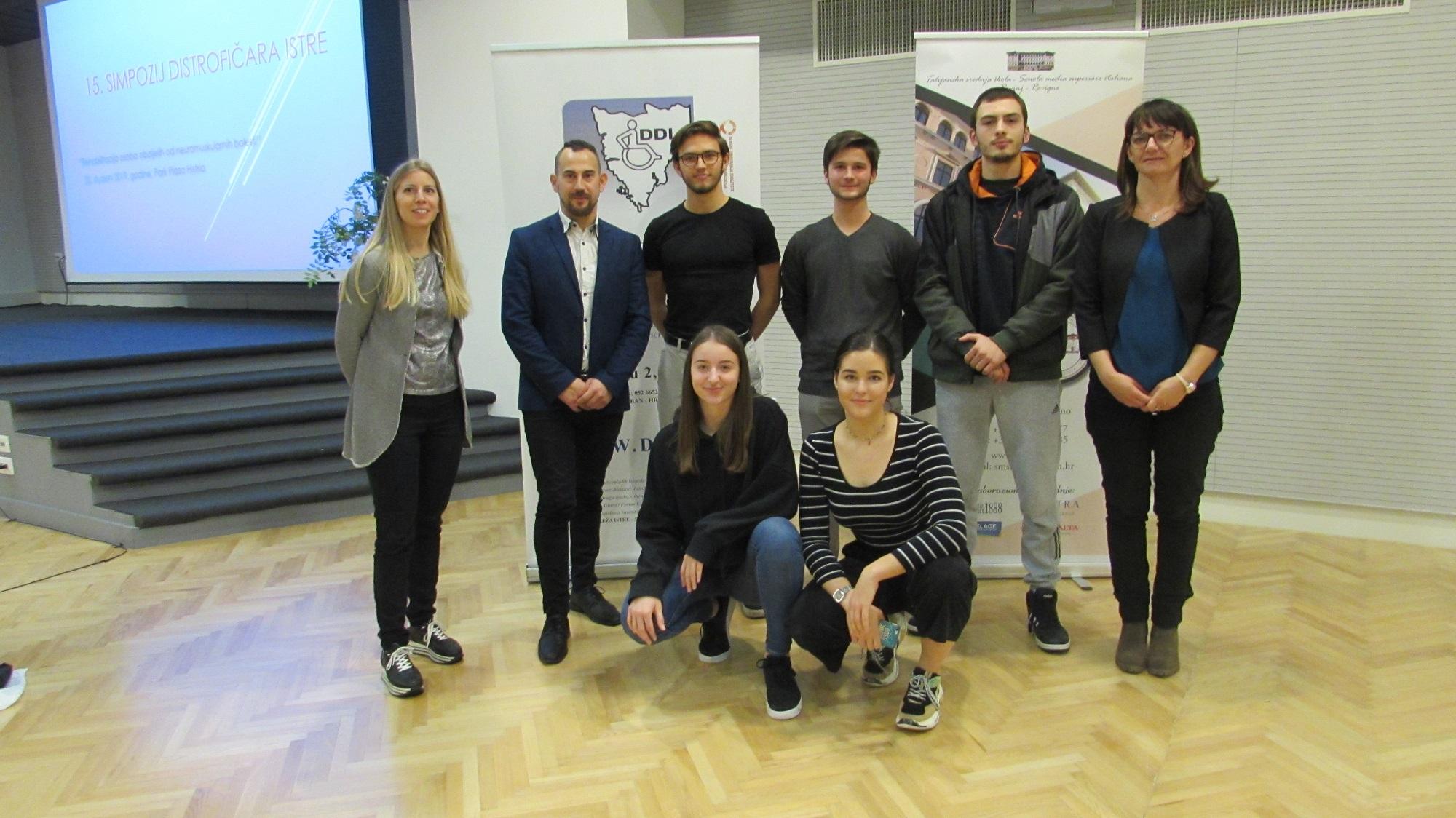 Gli alunni della SMSI hanno partecipato al Convegno dei distrofici a Pola