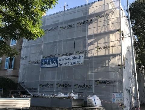 In corso i lavori di riqualificazione energetica dell'edificio di Viale della Gioventù