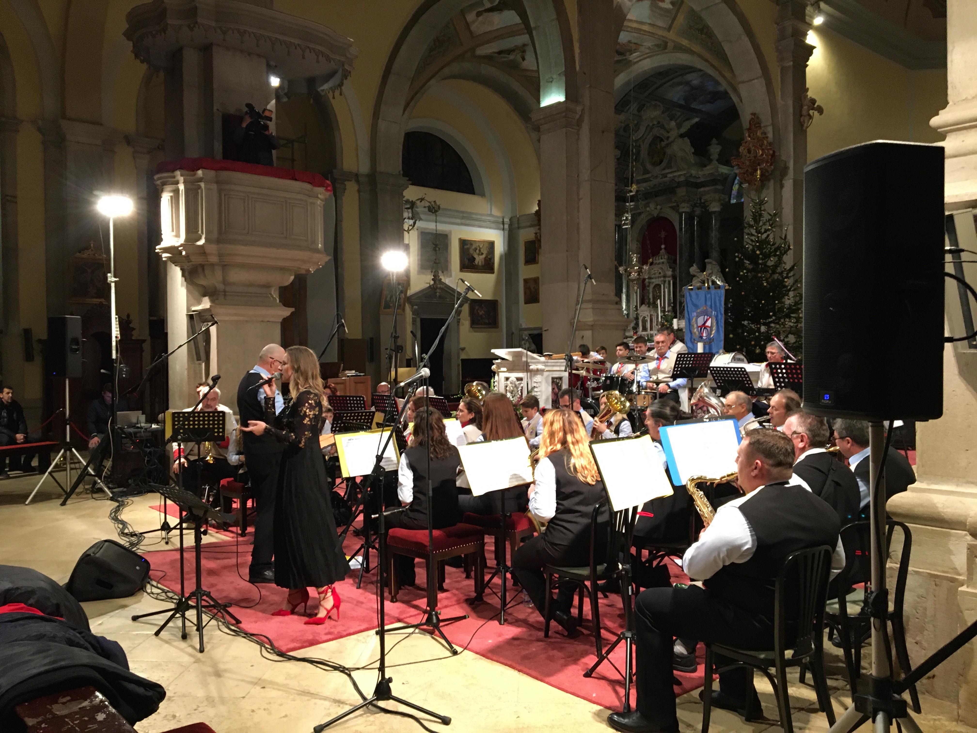 Concerto natalizio della Banda d'ottoni di Rovigno