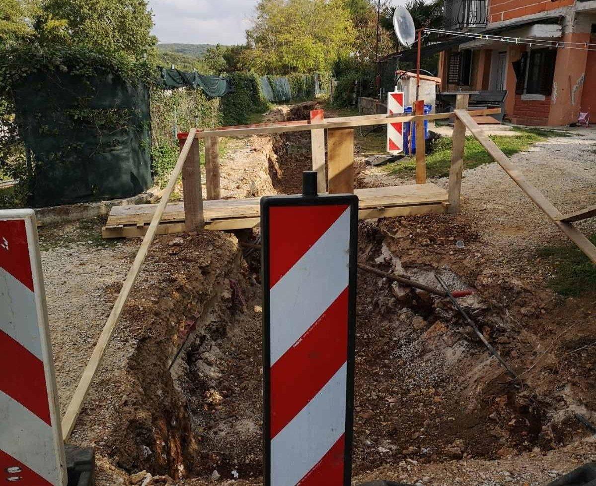 Radovi na kanalizacijskoj mrezi Montepozzo