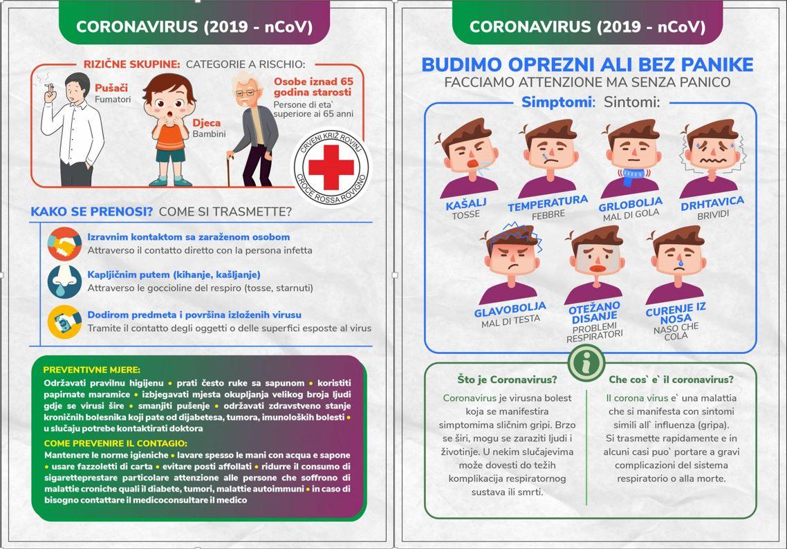 COVID-19: preporuke Zavoda za javno zdravstvo Istarske Županije