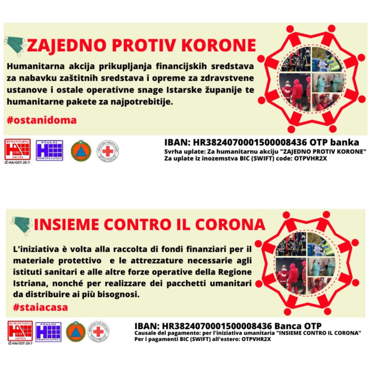 Avviata una campagna di beneficenza «Insieme contro il corona» - glavna fotografija