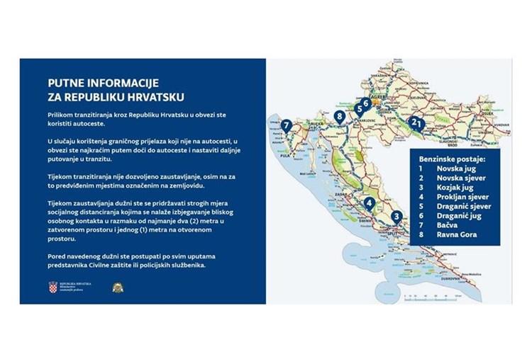 Obbligo di utilizzo delle autostrade durante il transito attraverso la Repubblica di Croazia
