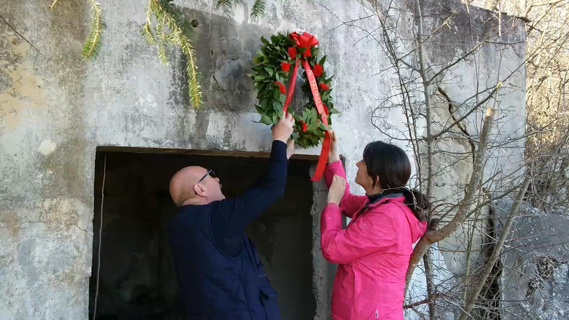Polaganje vijenaca povodom obljetnice osnutka Talijanskog bataljuna «Pino Budicin»