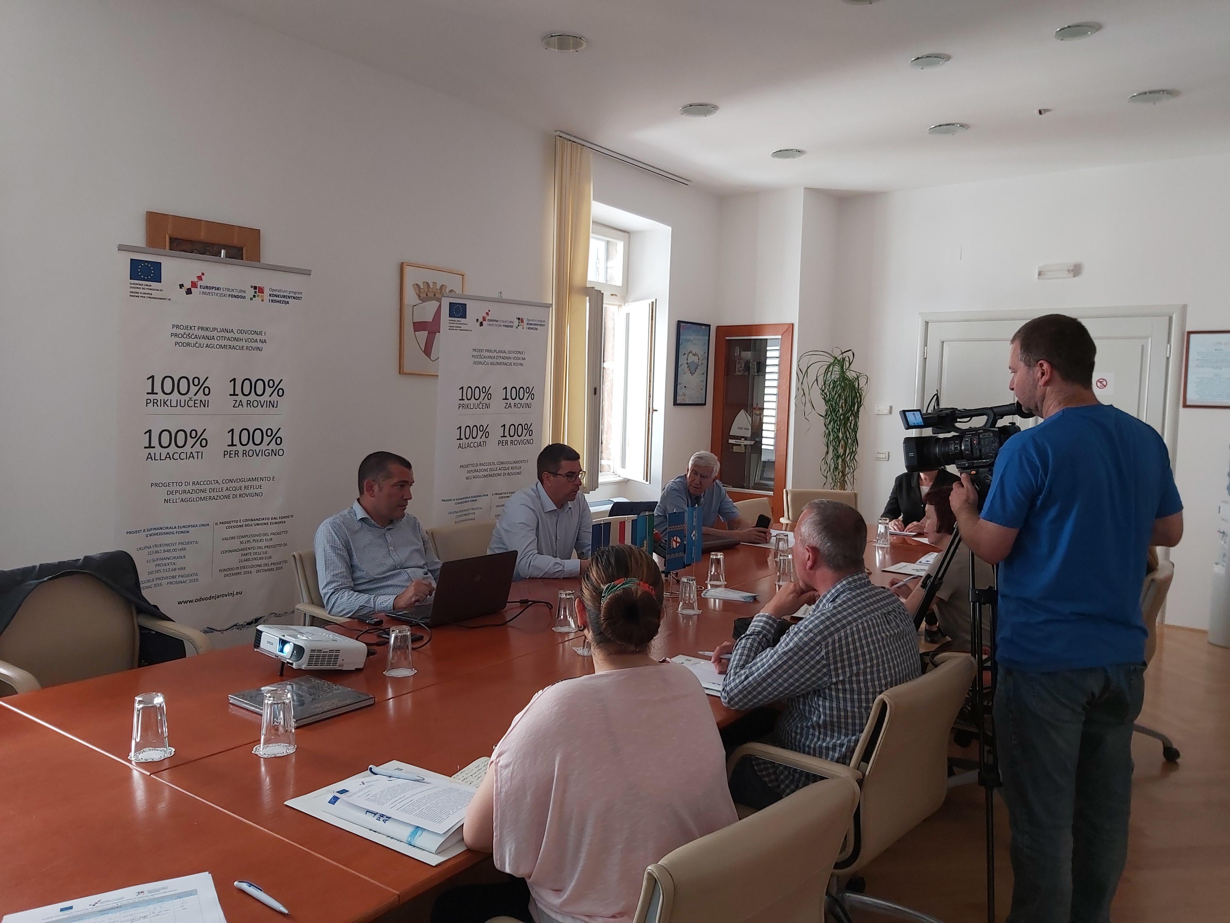 Održana 7. konferencija za medije Projekta prikupljanja, odvodnje i pročišćavanja  otpadnih voda na području aglomeracije Rovinj