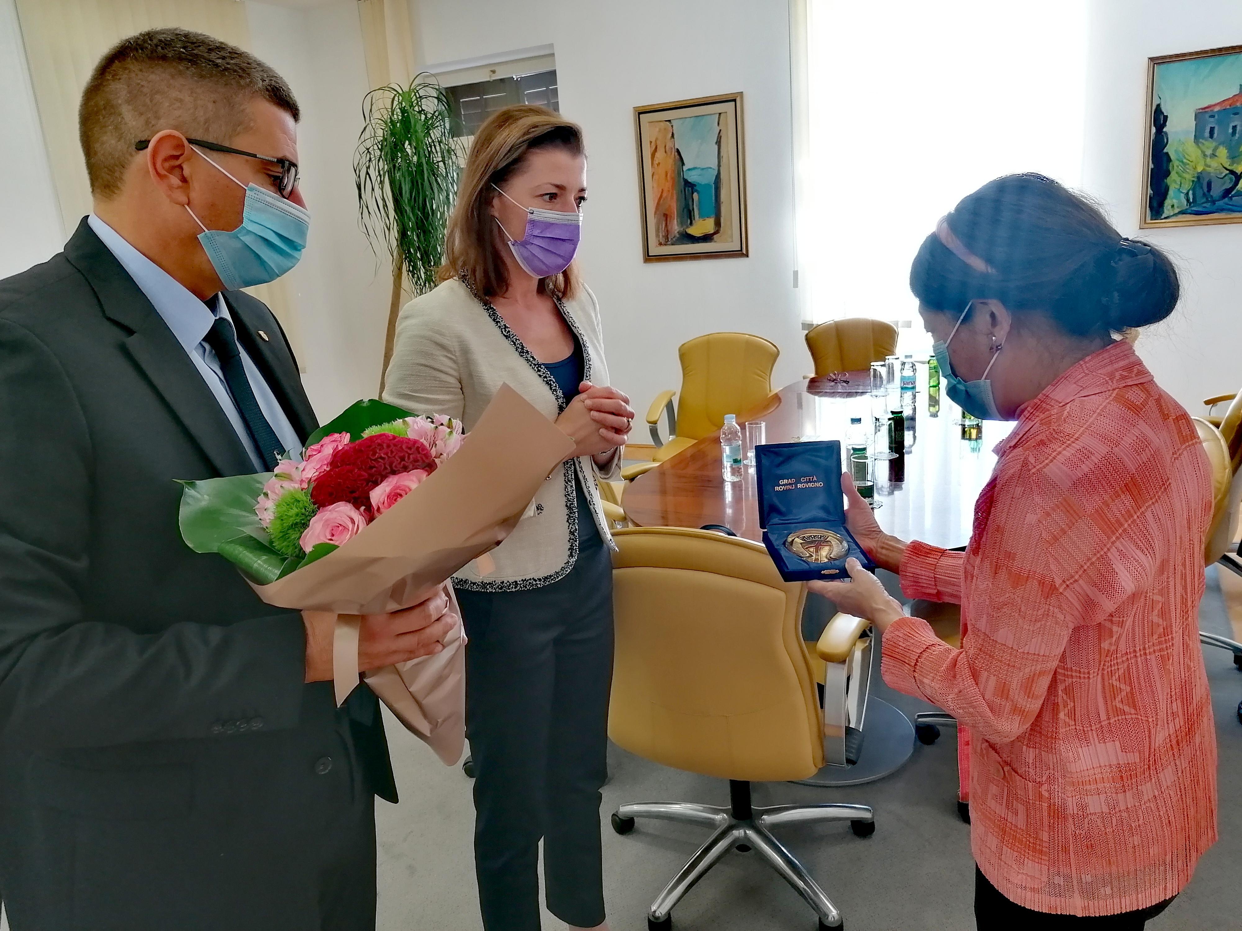 Veleposlanica Japana u posjeti Rovinju-Rovigno