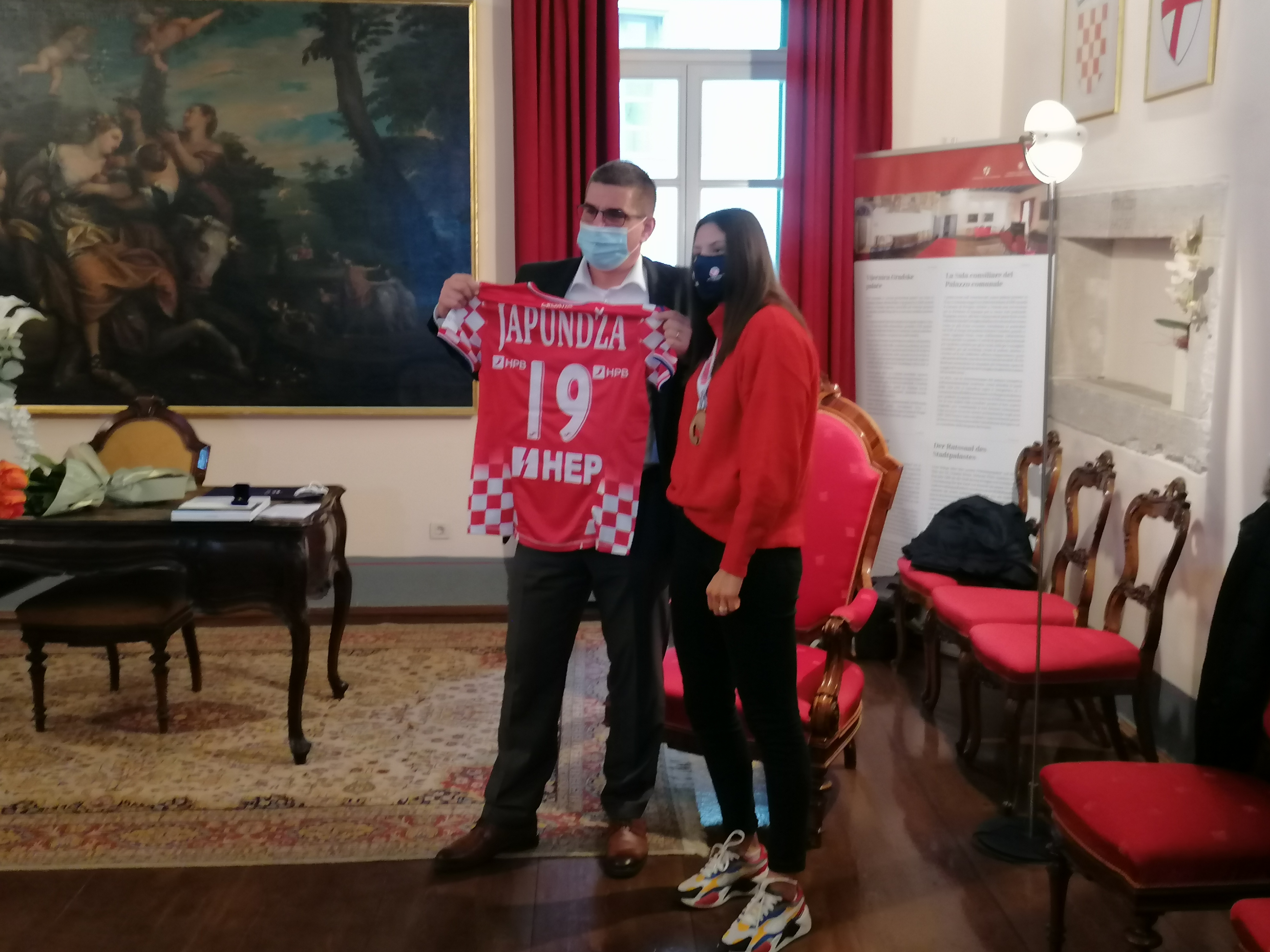 Il sindaco ha organizzato un ricevimento per Tena Japundža
