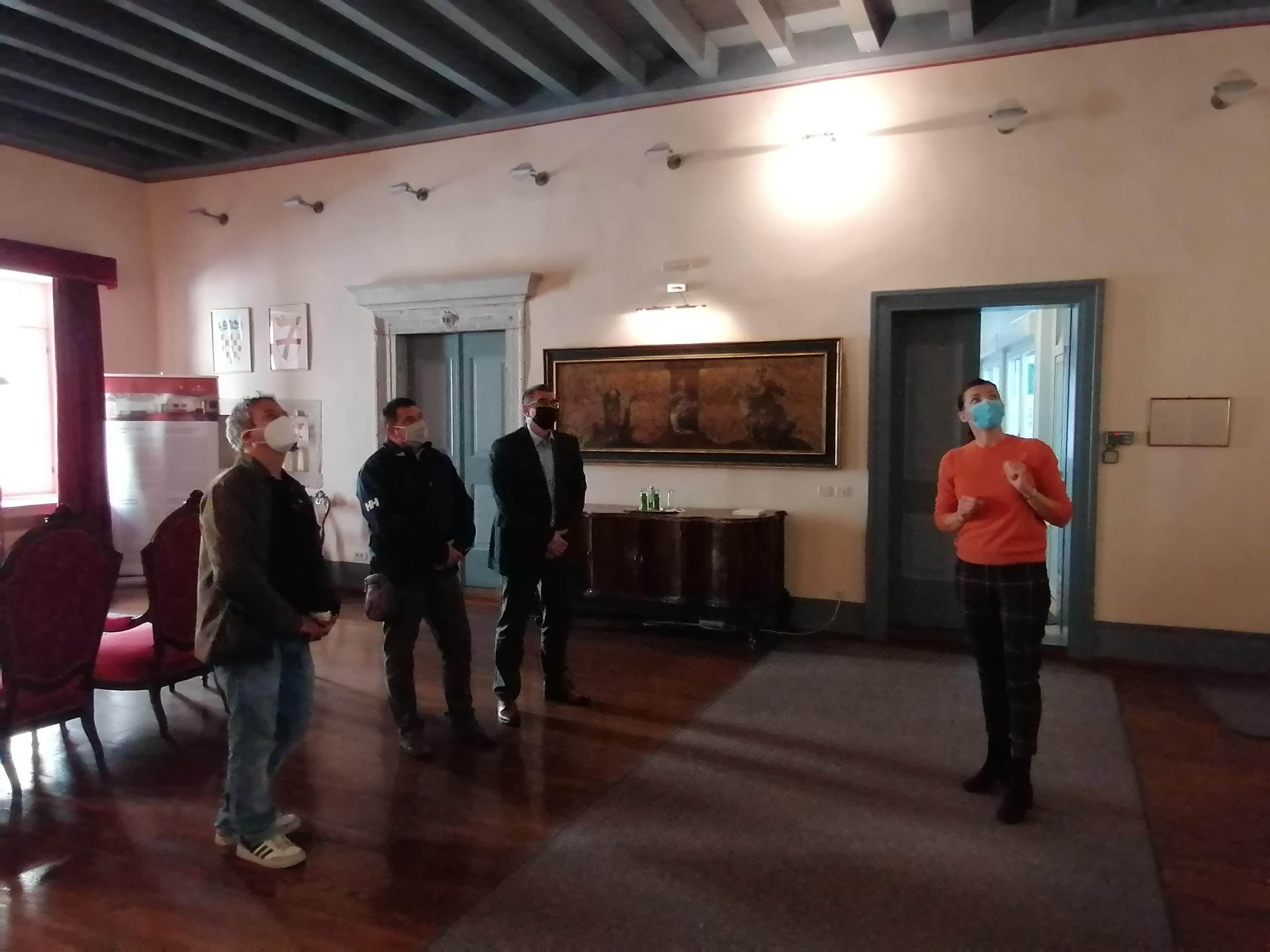 Il sindaco ha augurato il benvenuto all'artista salisburghese Peter Bauneis