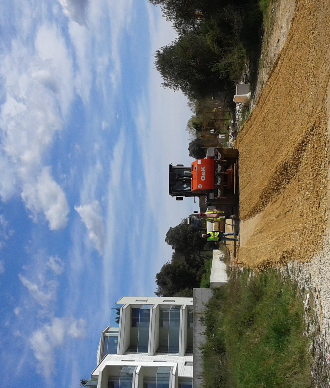 Lavori in corso all'incrocio Centener-Tartini e nell'abitato di Salteria