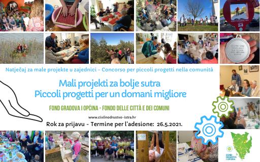 """Zaklada za poticanje partnerstva i razvoja civilnog društva raspisala je Natječaj """"Mali projekti za bolje sutra"""""""