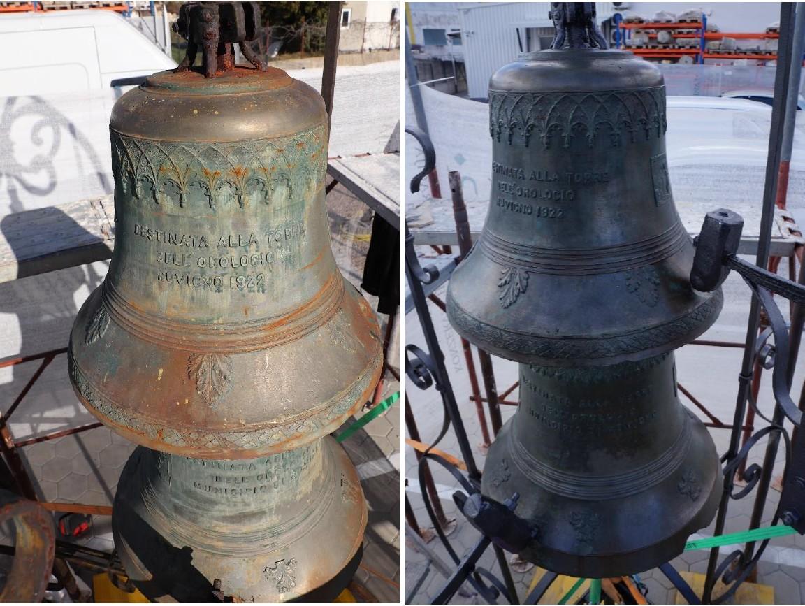 Le campane di bronzo sono tornate alla Torre dell'orologio