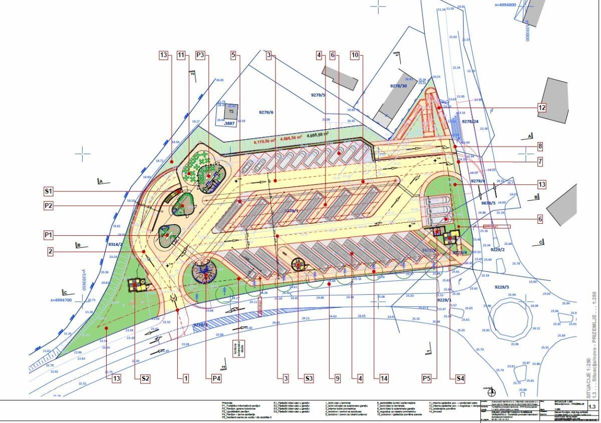 Progetto della nuova stazione degli autobus - glavna fotografija