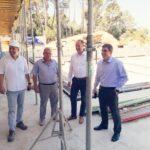 Il sindaco Marko Paliaga ha visitato il cantiere del complesso di piscine 2