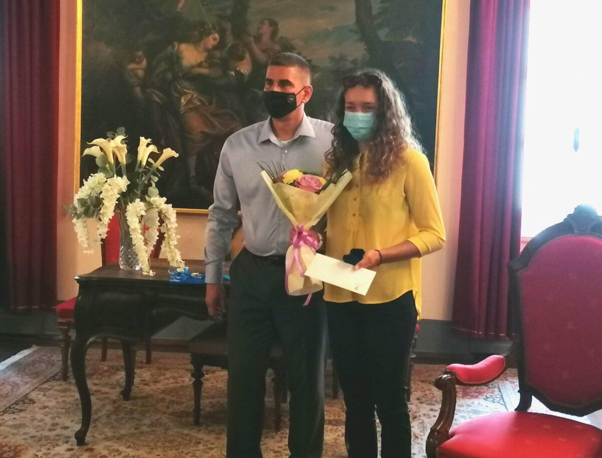 Si è tenuto l'incontro con la campionessa europea Tea Peteh - glavna fotografija