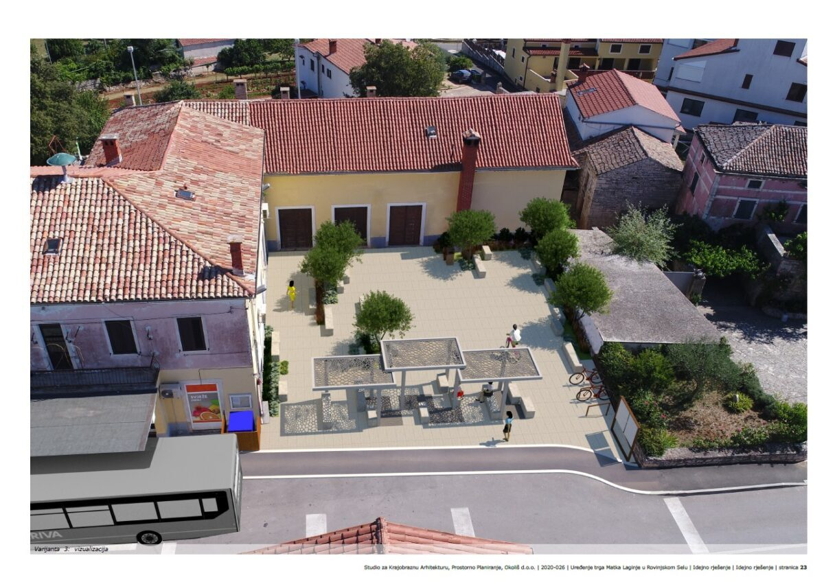Progetto di ricostruzione della piazza di Villa di Rovigno - glavna fotografija