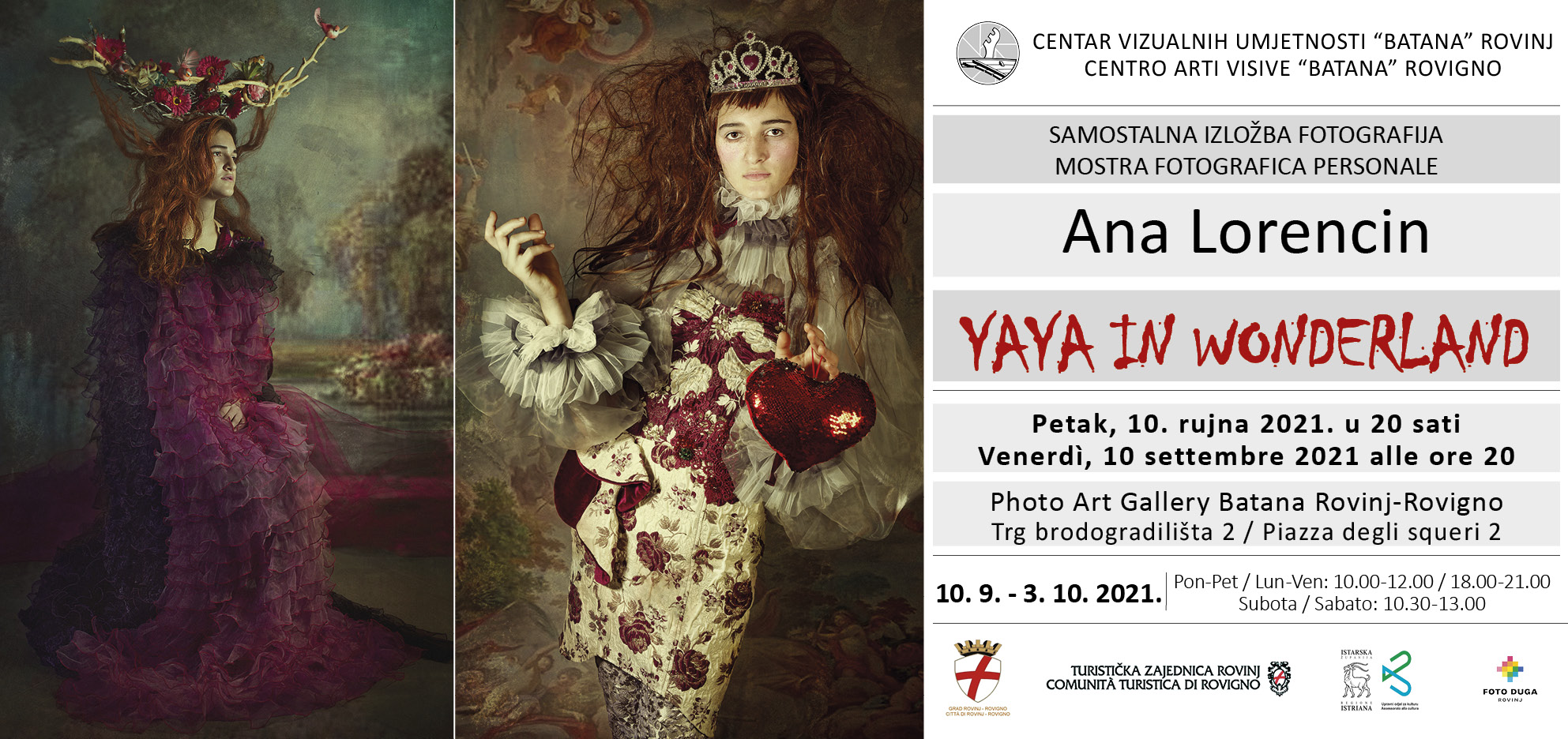 "Izložba fotografija ""Yaya in Wonderland"" Ane Lorencin u Galeriji ""Batana"""