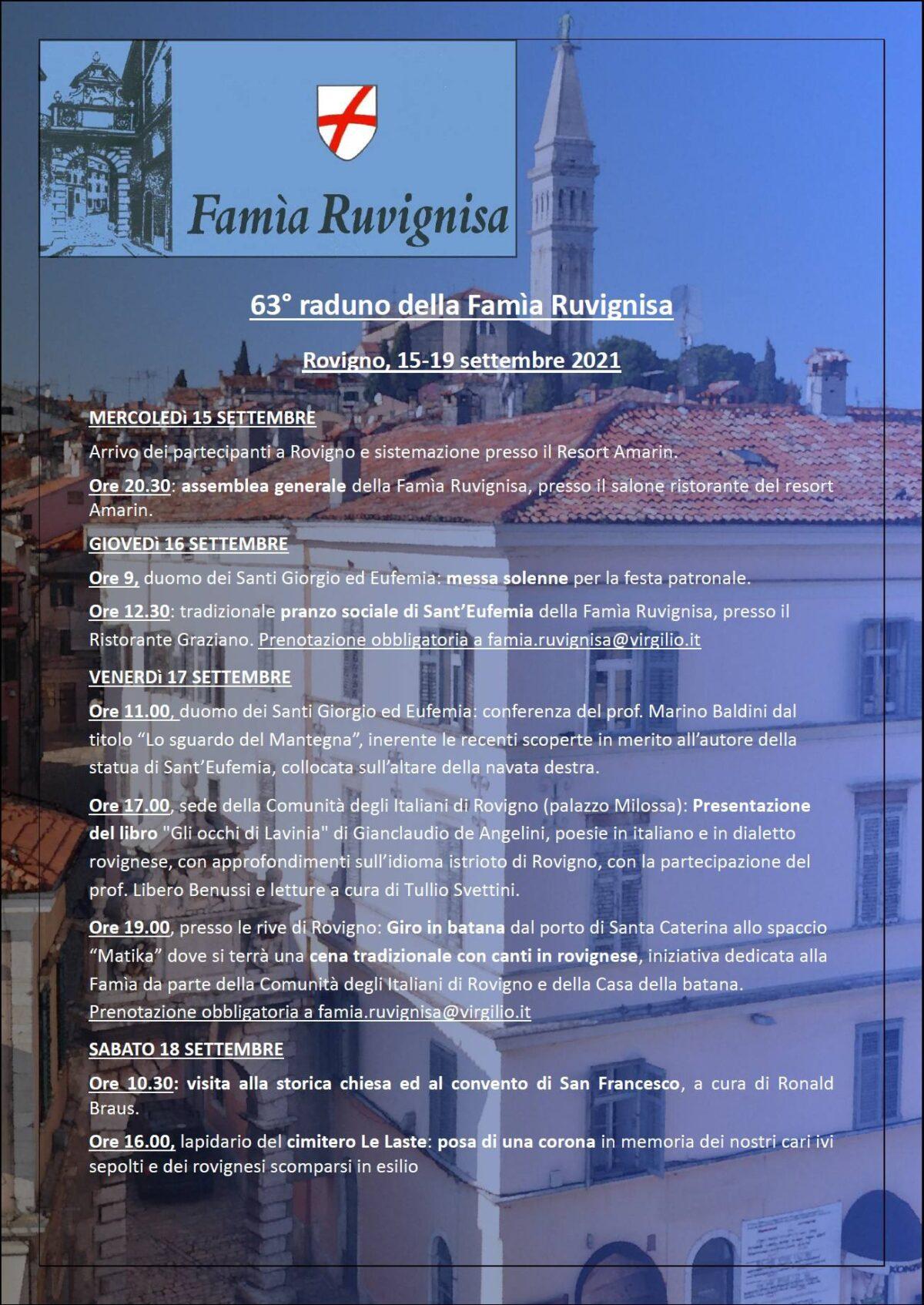 A Rovigno si tiene il 63° raduno della «Famìa Ruvignisa» - glavna fotografija