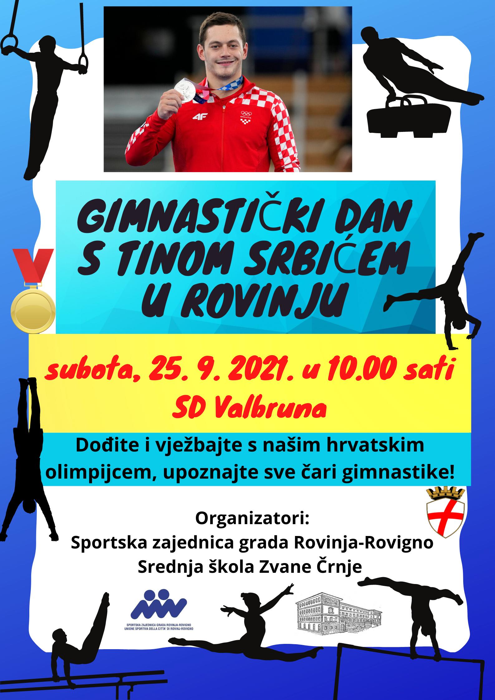 U subotu se održava Gimnastički dan s Tinom Srbićem