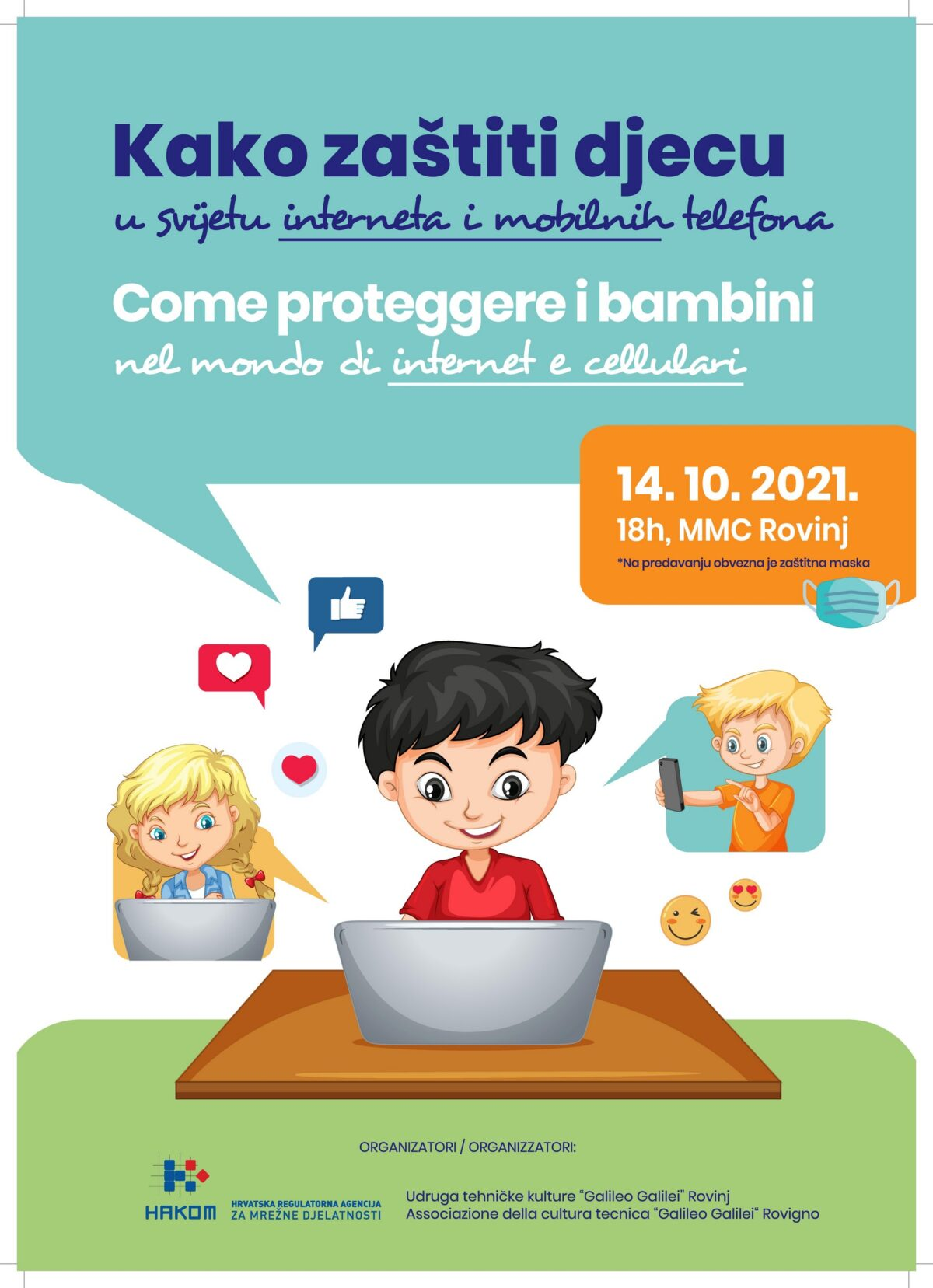 """U MMC-u javno predavanje """"Kako zaštiti djecu u svijetu interneta i mobilnih telefona"""" - glavna fotografija"""
